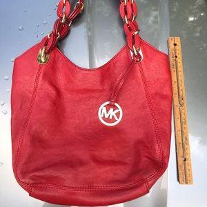 Michael Kors MK Genuine Leather Shoulder Bag